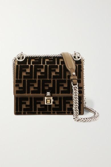 31c95dde80 Kan I small flocked leather shoulder bag