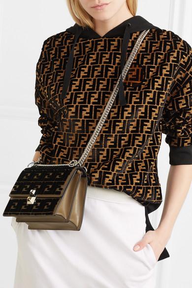 3228f90768 Kan I small flocked leather shoulder bag