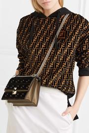 Kan I small flocked leather shoulder bag