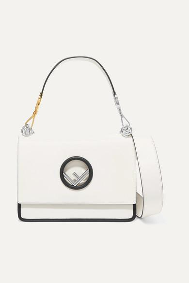 Fendi - Kan I Leather Shoulder Bag - White