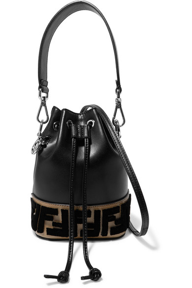 2e5c9387837c7 Fendi   Montresor mini flocked leather bucket bag   NET-A-PORTER.COM