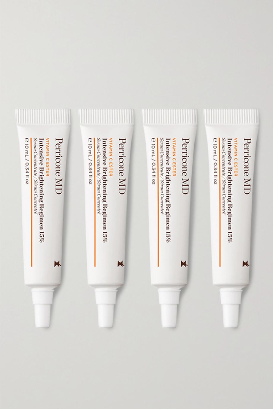 Perricone MD Vitamin C Ester Intensive Brightening Regimen 15 %, 4 x 10 ml – Set aus Seren
