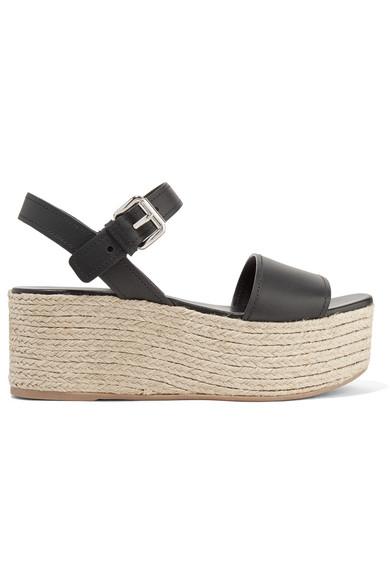5843dfa8f334 Prada. Leather espadrille platform sandals