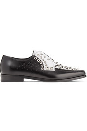 Prada Studded two-tone leather brogues