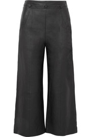 Jason Wu GREY Cropped leather wide-leg pants