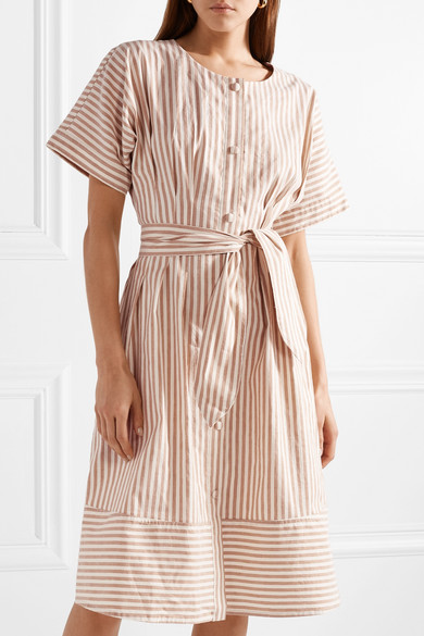 Jason Wu GREY Gestreiftes Kleid aus Canvas