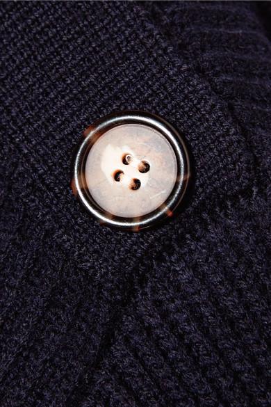 Jason Wu GREY Rippstrickpullover aus Wolle mit Zierknöpfen