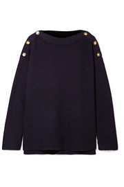 Jason Wu GREY Button-detailed ribbed wool sweater