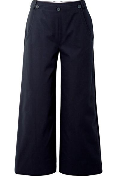 Jason Wu GREY Twill-Hose mit weitem Bein aus Stretch-Baumwolle