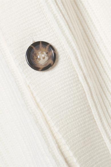 Jason Wu GREY Pullover aus einer gerippten Wollmischung mit Knopfverzierungen