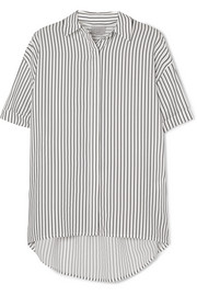 Jason Wu GREY Oversized striped poplin shirt