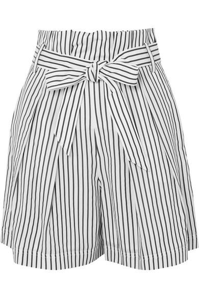 Jason Wu GREY Gestreifte Shorts aus Popeline