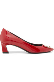 Trompette embellished patent-leather pumps