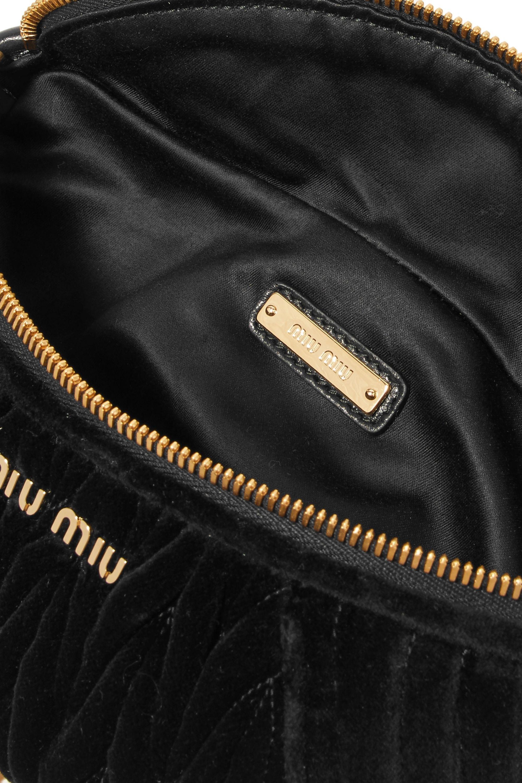 Miu Miu Convertible matelassé velvet belt bag