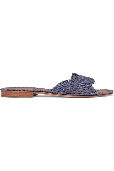 Carrie Forbes NAIMA WOVEN RAFFIA SLIDES