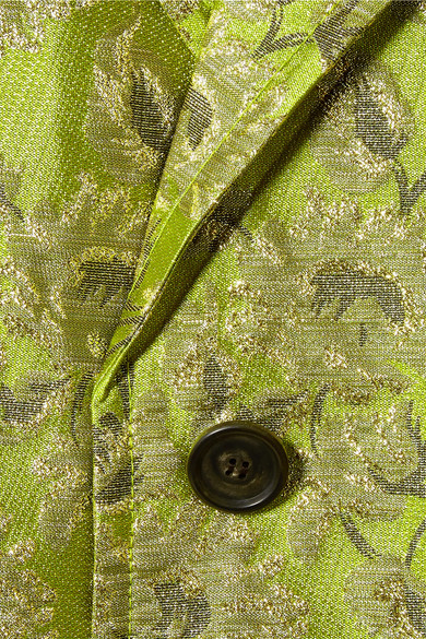 Prada Mantel aus Metallic-Brokat