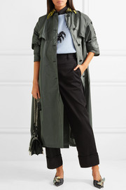 Oversized shell trench coat