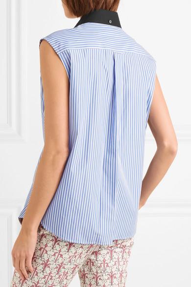 Prada Gestreiftes Hemd aus Baumwollpopeline