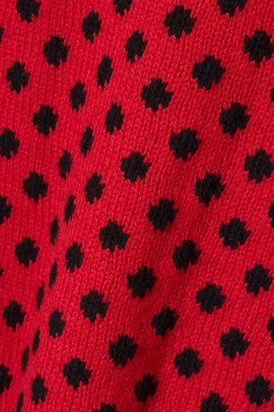 Prada Ärmelloses Oberteil aus einer Woll-Kaschmirmischung mit Polka-Dots