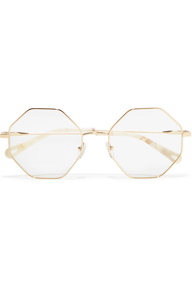 87a0a09ccc5 Chloé. Octagon-frame gold-tone optical glasses