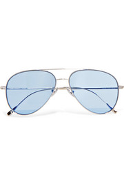 Cutler and Gross Aviator-style silver-tone sunglasses
