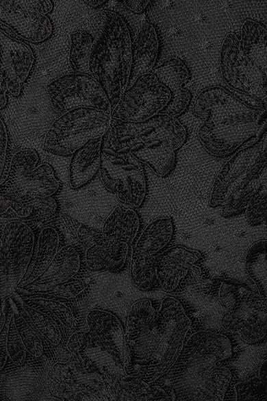 Miu Miu Besticktes Kleid aus Spitze aus einer Baumwollmischung
