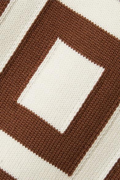 Miu Miu Oberteil aus Wolle mit Intarsienmotiv