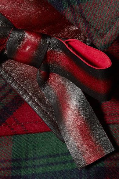 Miu Miu Weste aus Filz aus einer karierten Wollmischung mit Lederbesätzen Rabatt 100% Garantiert CRZGnH1