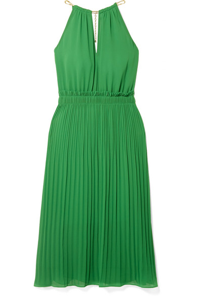Pleated Georgette Dress by Michael Michael Kors