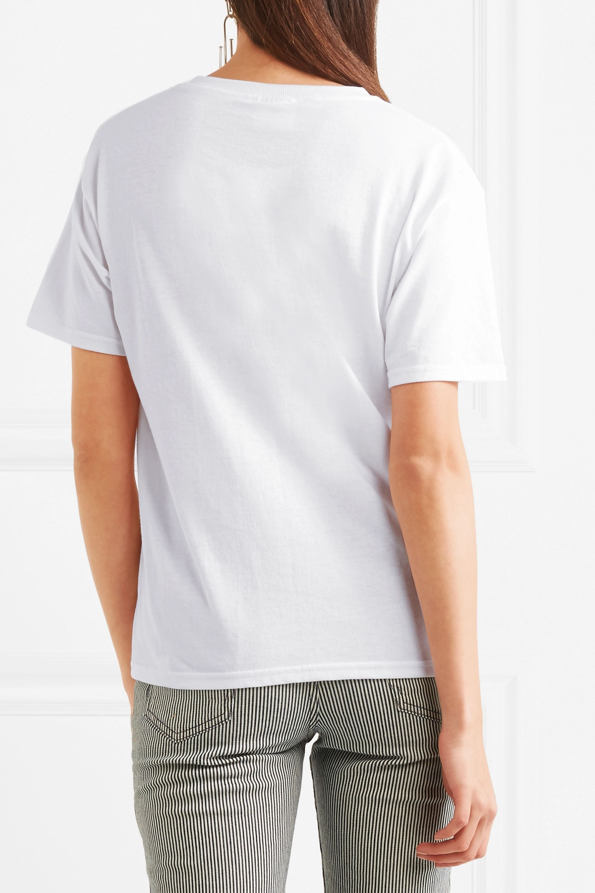 Double Trouble Gang Lover embroidered cotton-jersey T-shirt