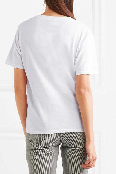 Double Trouble Gang Lover besticktes T-Shirt aus Baumwoll-Jersey