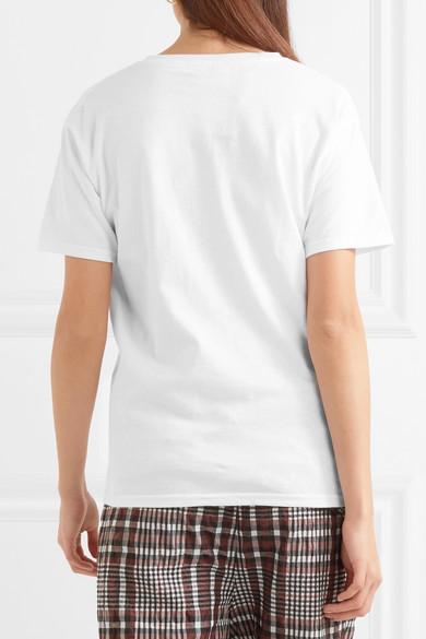 Double Trouble Gang Heartbreaker besticktes T-Shirt aus Baumwoll-Jersey