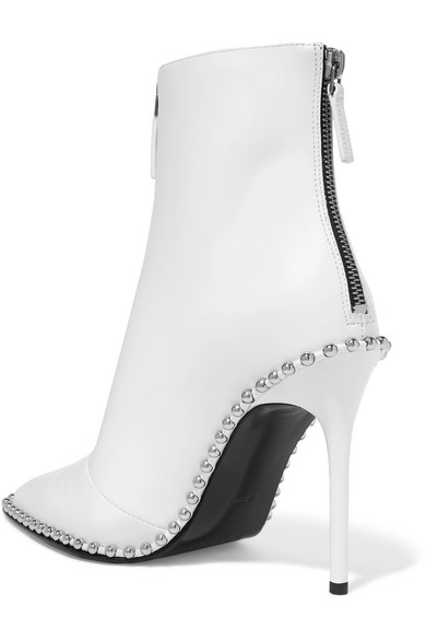 Alexander Wang Eri Ankle Boots Rivets Leather With