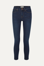 High-rise stretch-denim skinny jeans