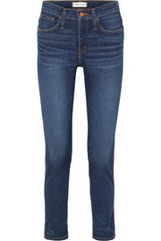 The Slim distressed high-rise jeans