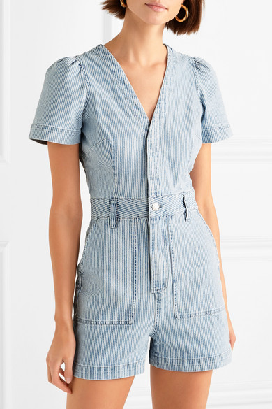 Striped Denim Playsuit by Madewell