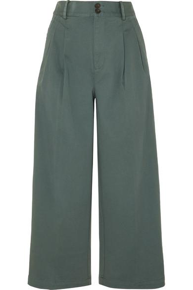 130eba534c Madewell | Pleated cotton-blend twill wide-leg pants | NET-A-PORTER.COM