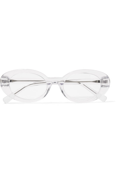 Mc Kinley Oval Frame Acetate And Silver Tone Optical Glasses by Elizabeth And James