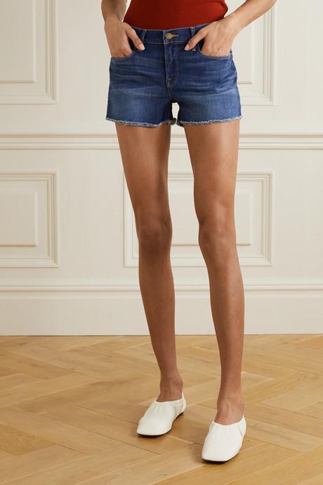 Le Cutoff frayed denim shorts