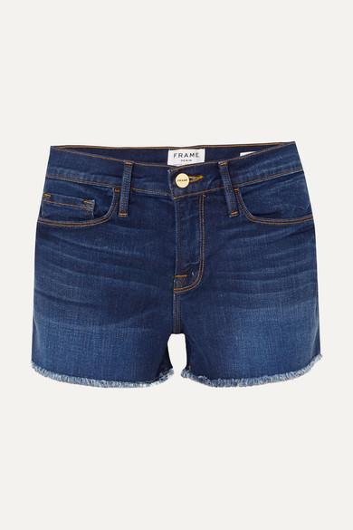 FRAME Le Cutoff Jeansshorts mit Fransen