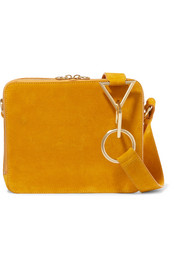 Tara Zadeh Parviz suede shoulder bag