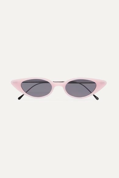 Marianne Cat-Eye Acetate And Gunmetal-Tone Sunglasses in Pink