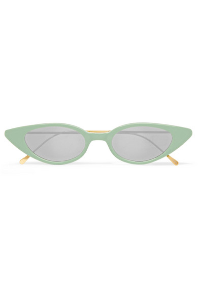 Acetate Cat Mirrored Eye Sunglasses Illesteva In Green Marianne qaBtwt1xf