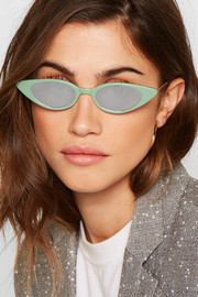 Marianne cat-eye acetate mirrored sunglasses