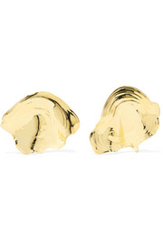 Padina gold-tone earrings