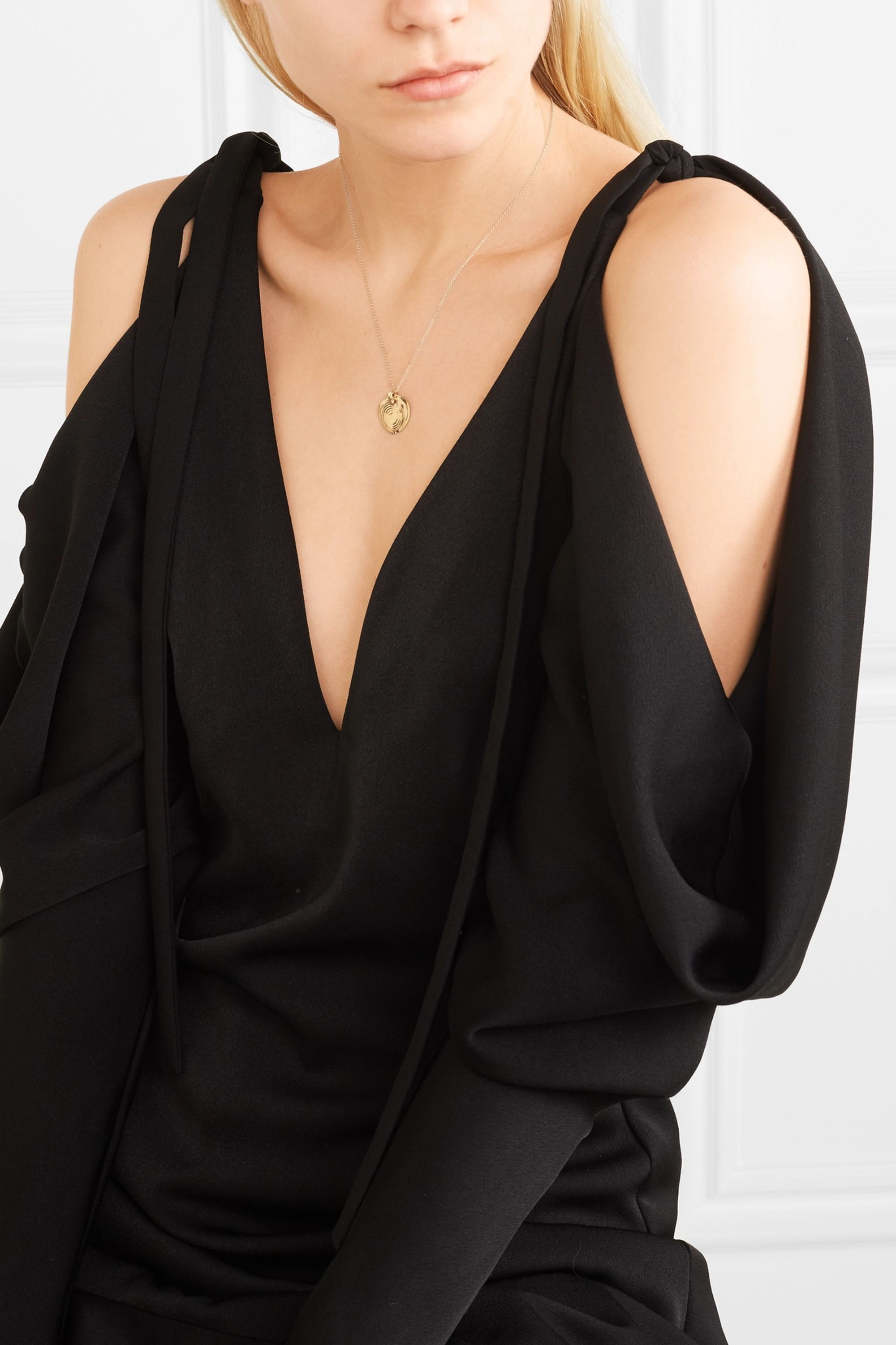 Leigh Miller Puddle gold-plated necklace