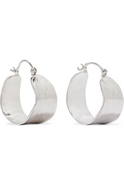 Leigh Miller Wakame silver hoop earrings