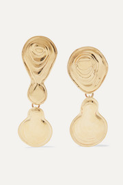 Leigh Miller Double Drop gold-tone earrings