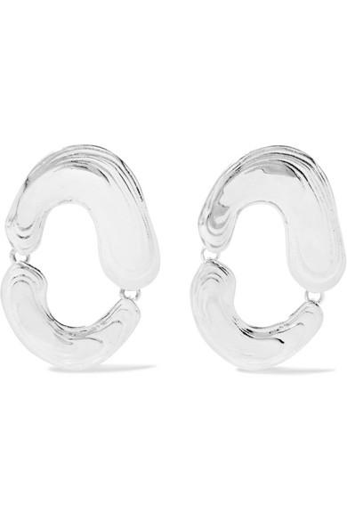 LEIGH MILLER Swish Silver Earrings