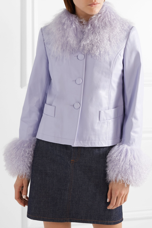 Saks Potts Dorthe shearling-trimmed leather jacket